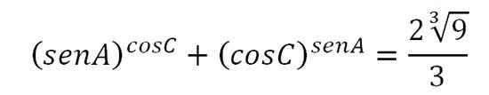 Calcular el valor de tanC, en un triángulo rectángulo recto en B, si se cumple que: