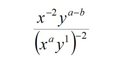 """Al reducir la expresión siguiente expresión, los exponentes finales de """"x"""" e """"y"""" son iguales. Calcular """"a + b""""."""