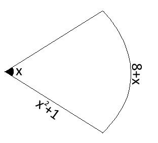 Calcular el área del sector circular