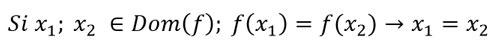 función-inyectiva-condición