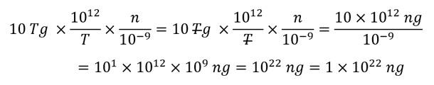 conversión de unidades de masa