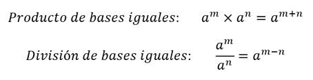división de bases iguales
