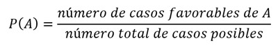 fórmula de probabilidad