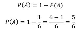 probabilidad regla del complemento