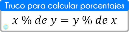 truco para calcular porcentajes