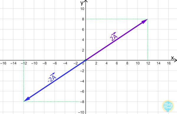 multiplicación de vector por escalar número