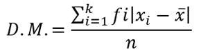 desviación media para datos agrupados de una variable discreta