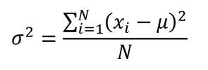 fórmula de la varianza poblacional